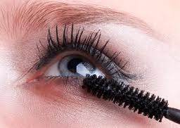 Apply mascara to bottom lashes for a wide-eyed look.