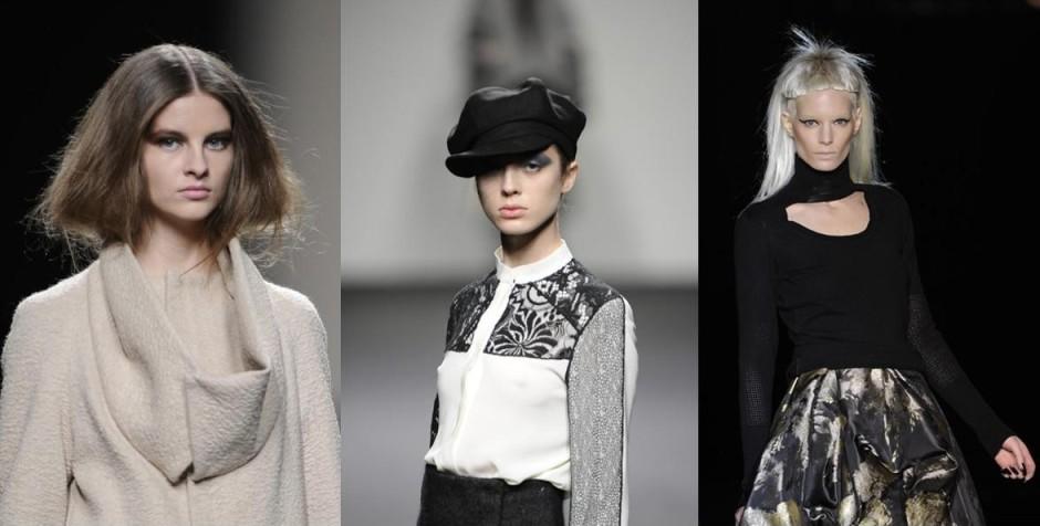 Models at Cibeles Fashion Week A/W 2011 (From L to R: Devota & Lomba Fashion Show; Jesus del Pozo Fashion Show; Roberto Verino Fashion Show).