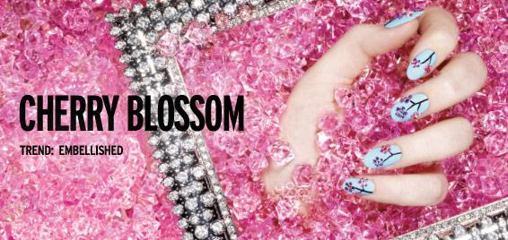 Sephora by OPI Cherry Blossom Nail Design (1/4)