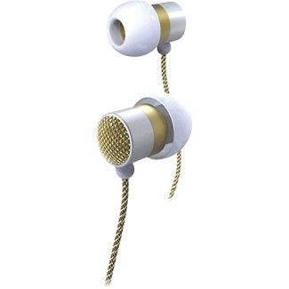 Altec Lansing Bliss Platinum In-Ear Stereo Headphones MZX736W - White/Gold