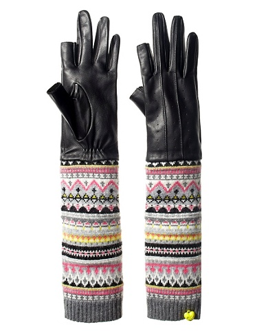 Text Me Leather Gloves