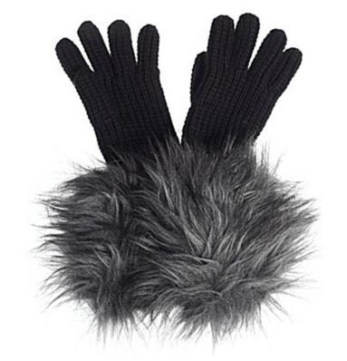 Michael Kors Coyote Faux Fur Gloves
