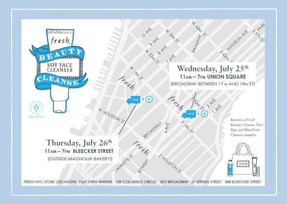 Freshs beauty cleanse pop up truck july 26th beauty events and to promote the fresh beauty cleanse campaign fresh is giving away an exclusive fresh beauty cleanse kit that includes the beloved cleanser blueprint malvernweather Image collections