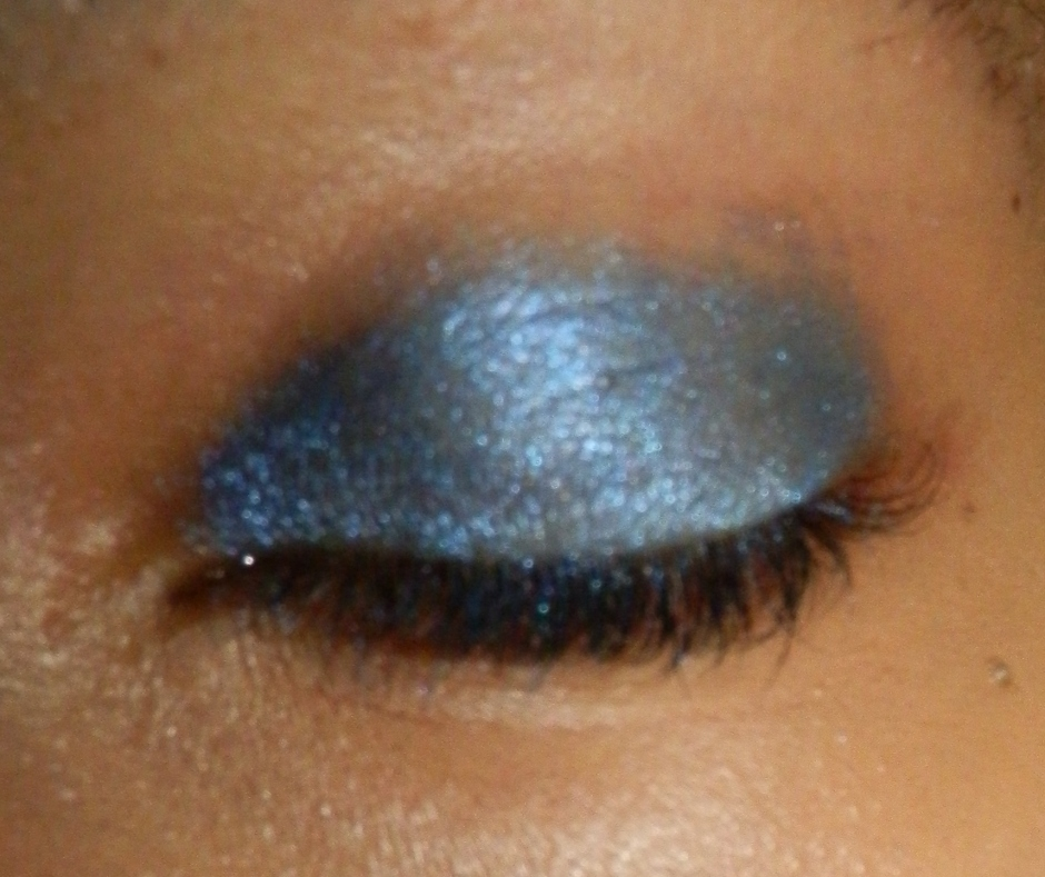 blue eyeshadow