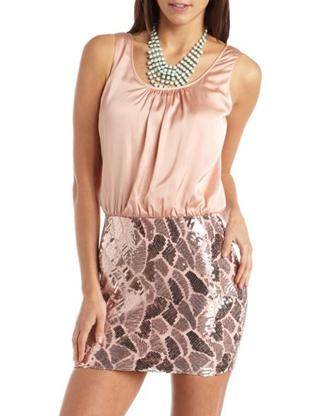 Deco Sequin 2-Fer Dress, $36.99