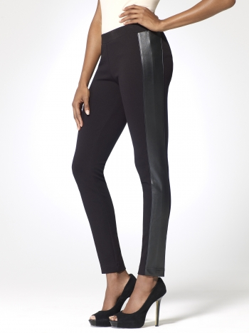 Contour and Faux Leather Legging