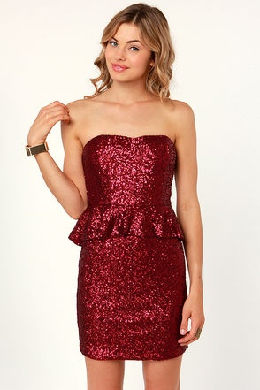 Ruby Tuesday Red Sequin DressLove it!, $62.00