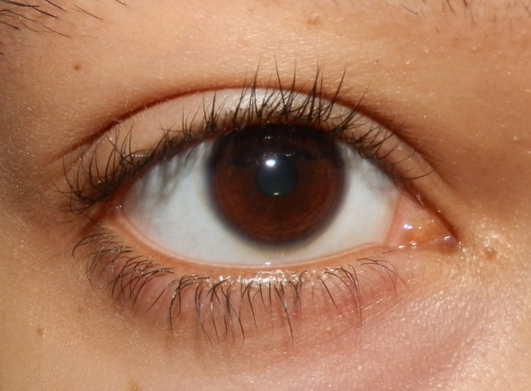 My lashes before applying the mascara