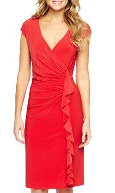 American Living Harper Cap-Sleeve Side Ruffle Dress, $50.00