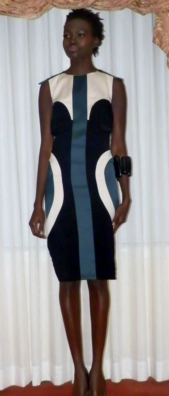 Tri-colored dress