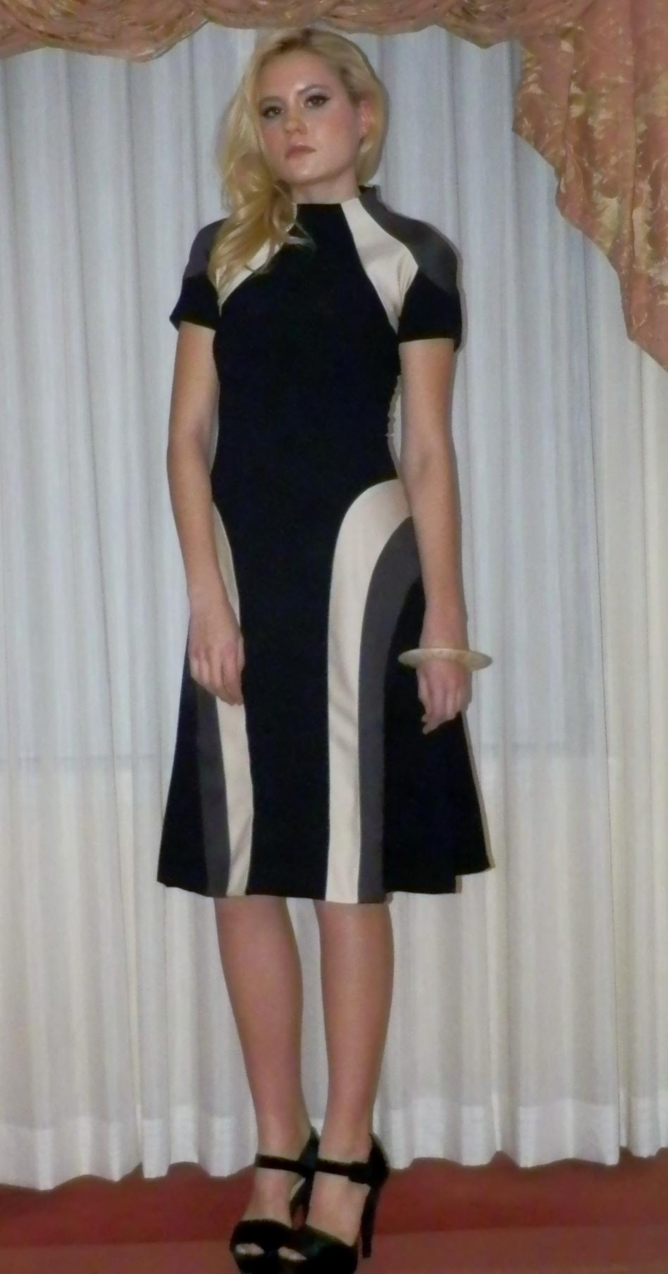 Black pinwheel dress