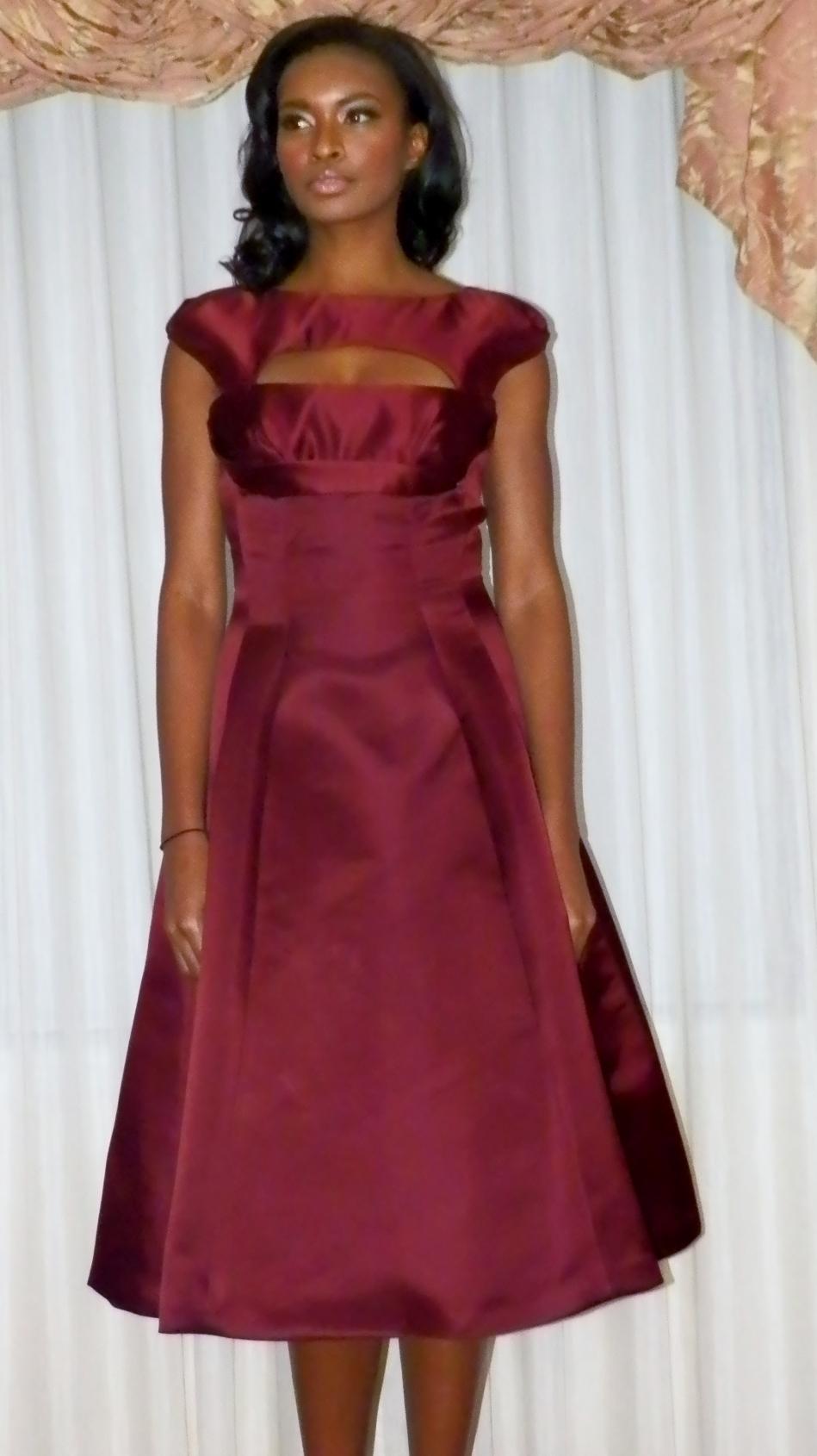 Wine cut-out dress