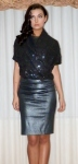 Metallic top with pewter skirt