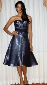 Orgami strapless evening dress