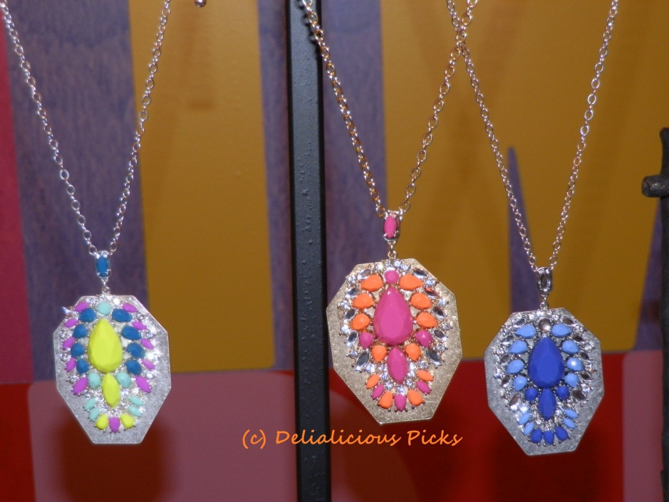 Stone Cluster Pendants ($38)