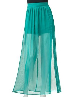 Stooshy Sheer Maxi Skirt - Juniors, $23.99