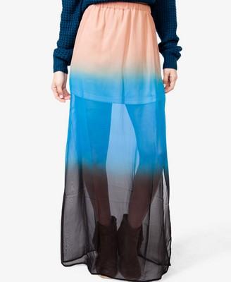 Ombré Chiffon Maxi Skirt, $22.80