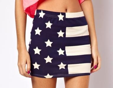 ASOS Mini Skirt in Stars and Stripes Print