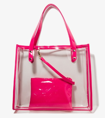 Studded Clear Tote