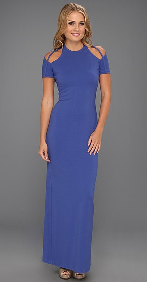 Halston Heritage SS Gown with Shoulder Cut-Out, $645.00