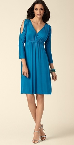 Peacock Open-Shoulder Dress, $29.99