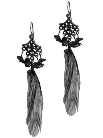 metallic-feather-earrings