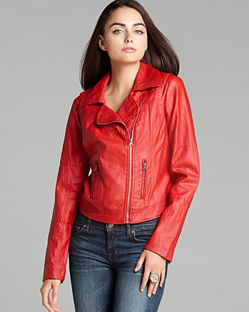 GUESS Jacket - Carly Faux Leather Moto