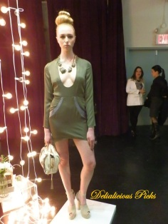 Long sleeve pencil dress with plunging neckline.