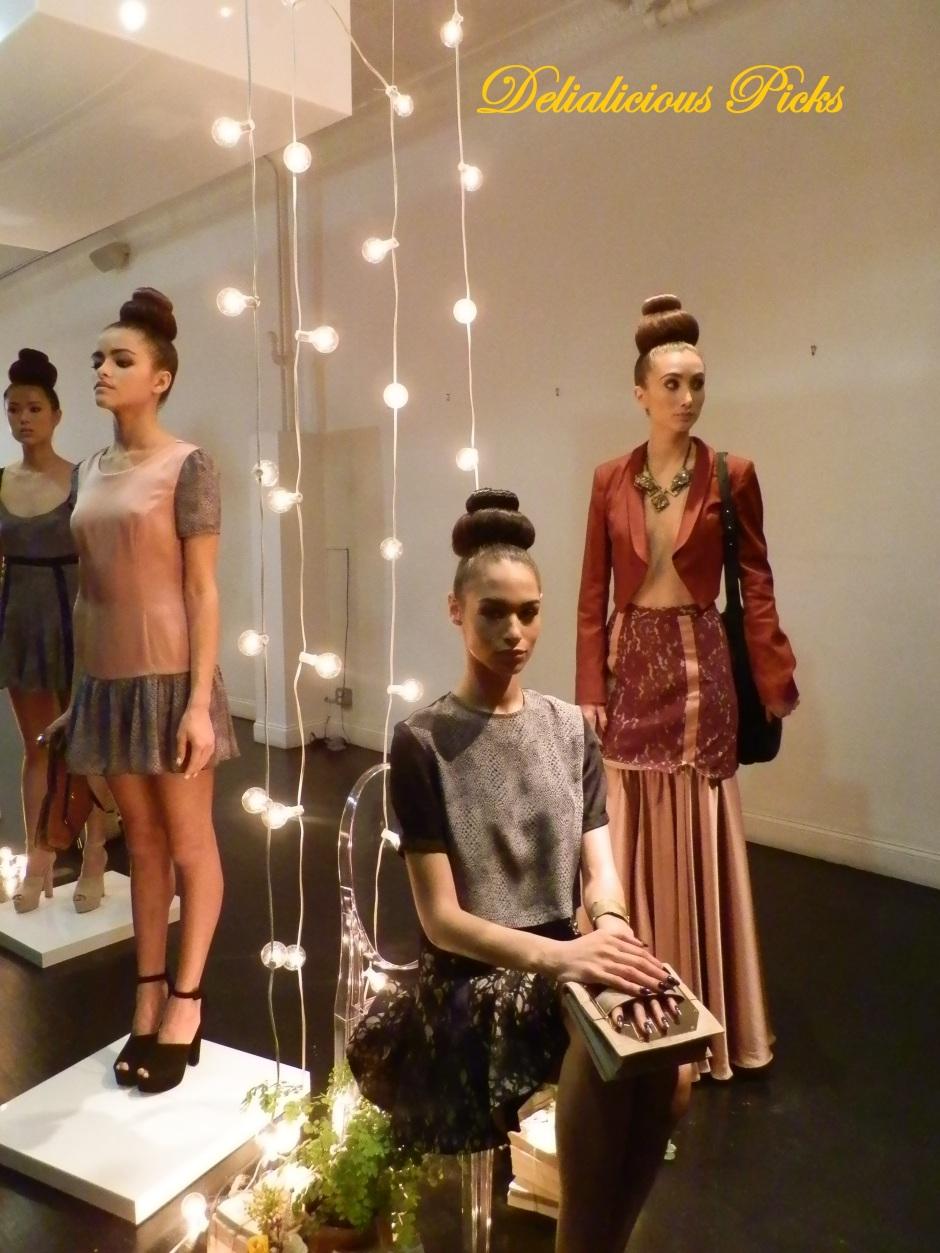 Models posing at the by Misha A/W Presentation