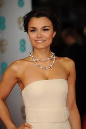 RED CARPET ARRIVALS: Samantha Barks arrives at the Royal Opera House, London for the EE British Academy Film Awards on Sunday 16 February 2014. (Photo Credit: Courtesy of BAFTA)