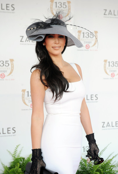 Kim Kardashian at the 135th Kentucky Derby  (May 2, 2009 - Source: Jeff Gentner/Getty Images North America)
