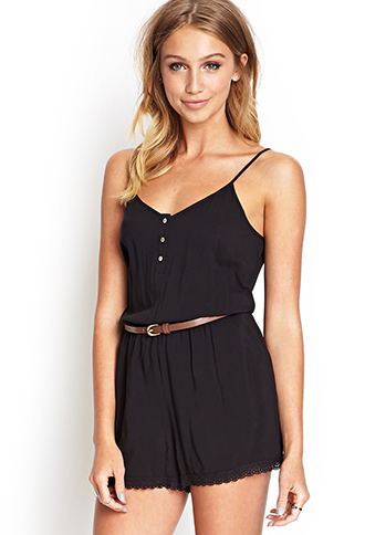 Forever 21 Lace-Edged Cami Romper, $17.80
