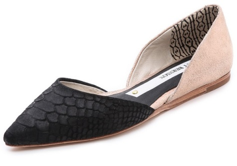 Matt Bernson Mercer D'Orsay Flats – Black/Rose Gold, $176.00