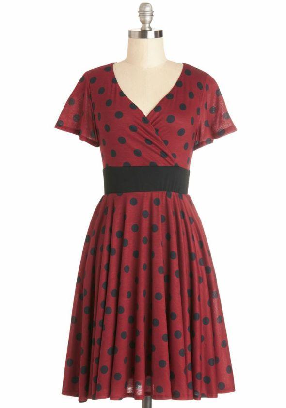 Feeling Footloose Dress in Red, $69
