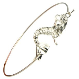 Huan Xun Women's Mermaid Charm Bangle Bracelet with Jewelry Gift Box, $4.99
