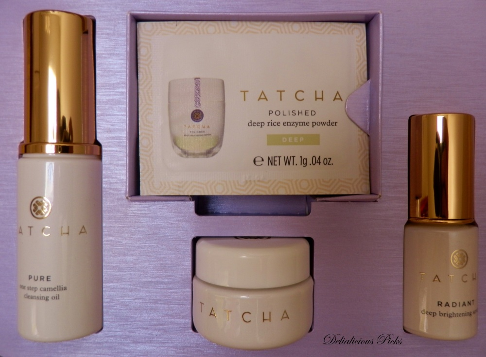 The Tatcha Skincare Discovery Kit provides a two-week supply of TATCHA samples
