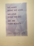 Indie Beauty Expo sign