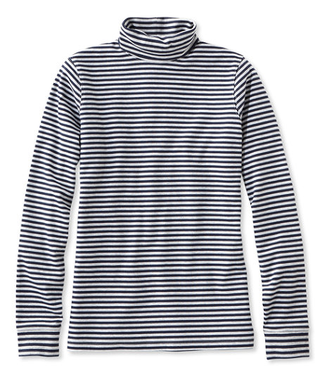 Bean's Interlock Turtleneck, Stripe, $24.95