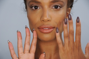 Artist Mei Kawajiri created over 20 nail art looks for The Blonds 10th Anniversary show, including the use of iced up Preciosa crystals and platinum polish. (Photo Courtesy of Morgan Taylor Lacquer)