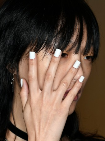 "Artist Danielle Candido created a pure white manicure using Morgan Taylor's ""All White Now."" (Photo Courtesy of Morgan Taylor Lacquer)"