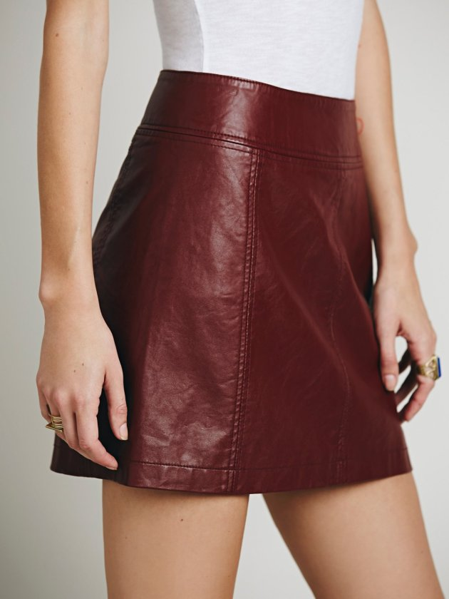 Zip To It Vegan Leather Mini Skirt, $78.00