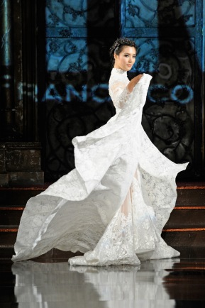 Mimi Tran fashion show. (Photo by Arun Nevader/Getty Images for Art Hearts Fashion)