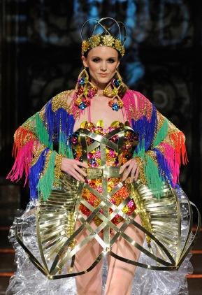 Laurel Dewitt fashion show. (Photo by Arun Nevader/Getty Images for Art Hearts Fashion)