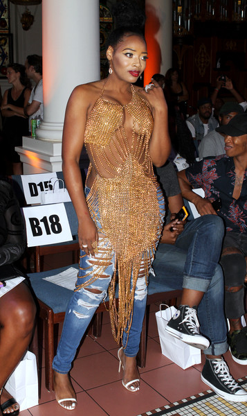 Yandy Smith at the Laurel DeWitt Spring/Summer 2016 Fashion show (Sept. 11, 2016 - Source: Donna Ward/Getty Images North America)