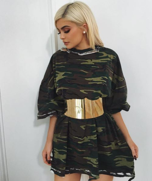 Kylie Jenner shows off her waist in Instagram post