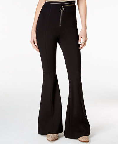 Free People Born To Be Wild Black Wash Flare-Leg Jeans, $42.99