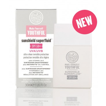 Make Yourself Youthful™ Sunshield Superfluid™ SPF50+, £15.00 / €17.55
