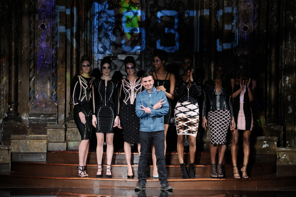 NEW YORK, NY - FEBRUARY 11: Designer Erik Rosetel walks the runway during Rosete by Erik Rosete at New York Fashion Week Art Hearts Fashion NYFW FW/17 at The Angel Orensanz Foundation on February 11, 2017 in New York City. (Photo by Arun Nevader/Getty Images for Art Hearts Fashion)